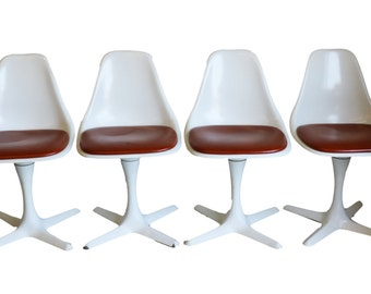 Set of Four Mid-Century Modern Tulip Chairs by Burke