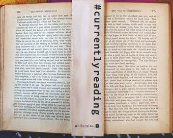 CURRENTLY READING wooden bookmark   Lillytales