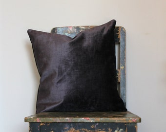 Aubergine Velvet Pillow Cover cb6a44bcb4