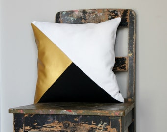 Black Gold Pillow Etsy