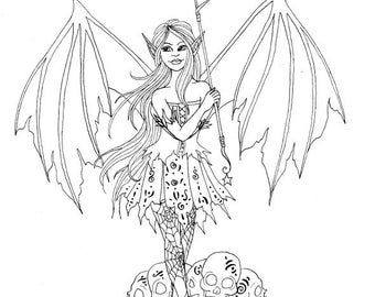 Halloween Coloring Page Fairy Coloring Page Printable
