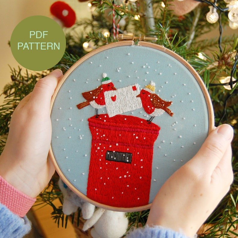 Christmas Hand Embroidery Instant Download PDF Pattern / image 0