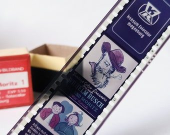 "Vintage Roll Film for Kids, ""Max und Moritz"" Favorite Movie,  35mm Original Box  with story"