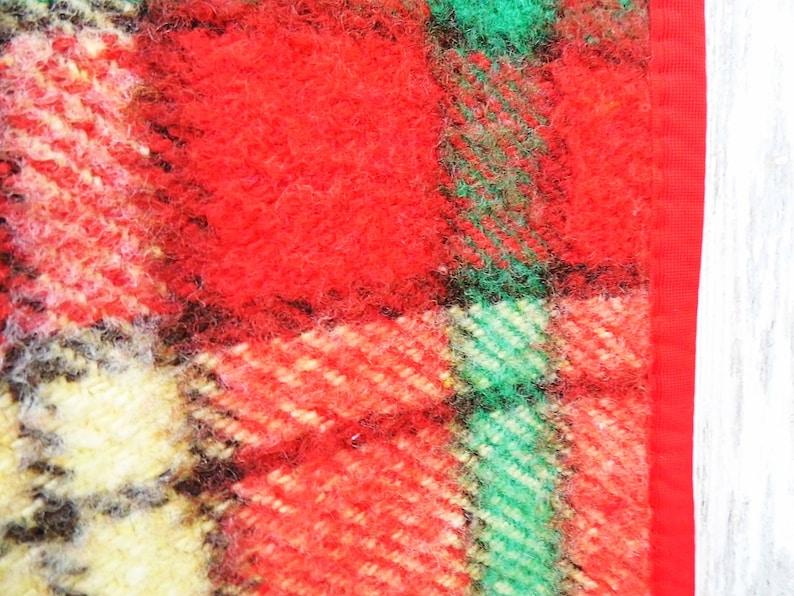 Old checkered blanket  warm blanket  vintage plaid