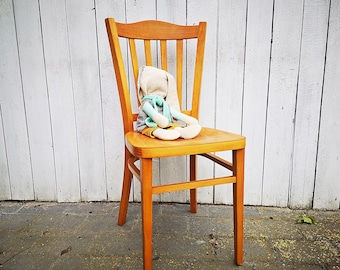 old wooden chair / vintage chair rustic charm
