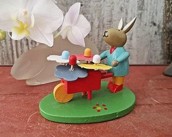 "Wooden Easter decoration, German Ornaments, ornament,Miniature 2.5"", Standing Decoration, Erzgebirge"