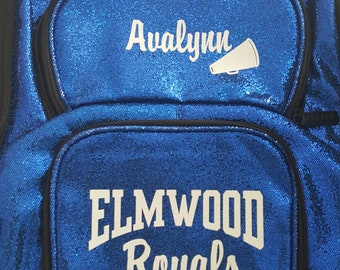 e7c66aaa15 00 Personalized Glitter Backpacks - Choose Color - Great for Cheer