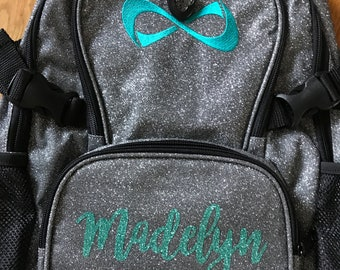 00 Nfinity Gray Sparkle Backpacks - Available in 2 sizes - Petite   Regular  - Personalize with Name 47852ea6131e4
