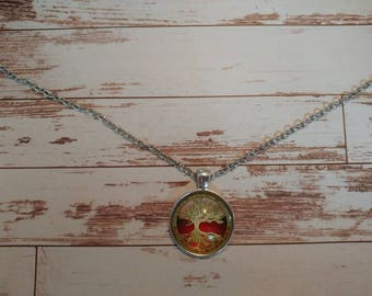 Red tree of life necklace