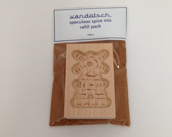 vandotsch speculaas spice with windmill mould to make authentic Dutch speculaas biscuits