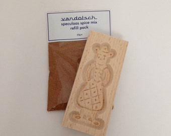 vandotsch speculaas spice with woman mould to make authentic Dutch speculaas biscuits