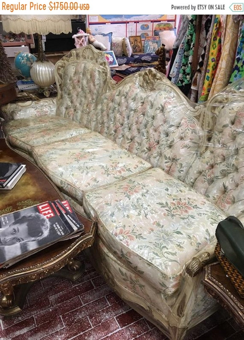 Swell Summer Sale Ornate Italian Style Vintage Sofa Davenport White Floral Boudoir Living Room Retro Home Decor Gmtry Best Dining Table And Chair Ideas Images Gmtryco