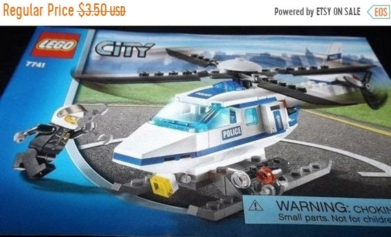 Fall Sale Lego City Helicopter Assembly Booklet 7741 Etsy