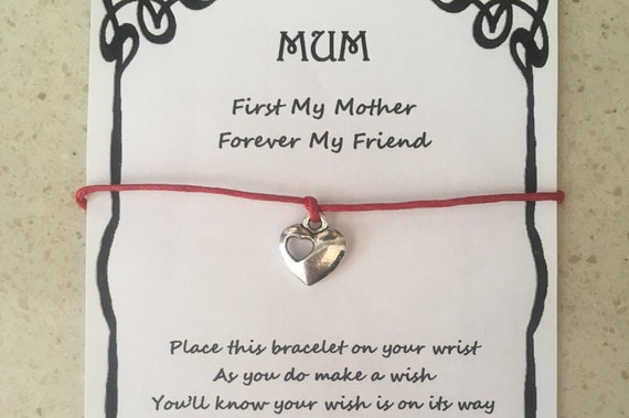 Friends Forever Heart Charm Wish Friendship Bracelet Gift /& Envelope Hot Pink