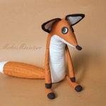 14 - 25 - 33 - 40 cm The  LITTLE PRINCE FOX - premium quality  - original plush little toy - The serie Prince