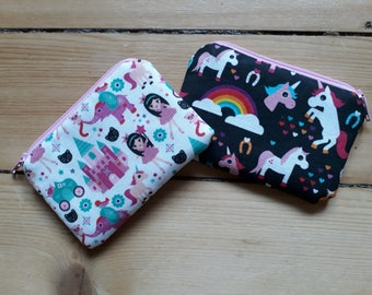 Unicorn/Princess Coin Purse
