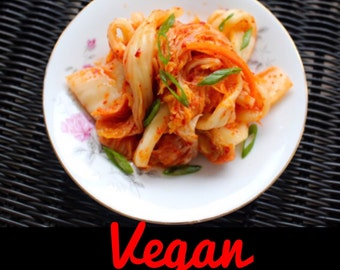 VEGAN KIMCHI - Refined Sugar Free Korean Kimchee - 1 lb 김치