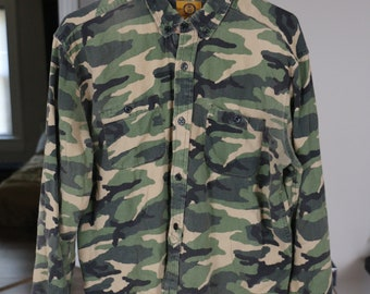 b9e4f7b943b0c My Favorite Shirt // Camo All-Over-Print Button-Up Oxford Shirt // Medium  // Urban Outfitters