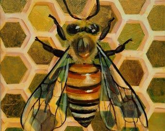 Golden Honeybee Giclee Print
