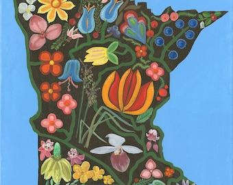 Minnesota Floral Giclee Print