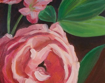 Pink Flowers Giclee Print