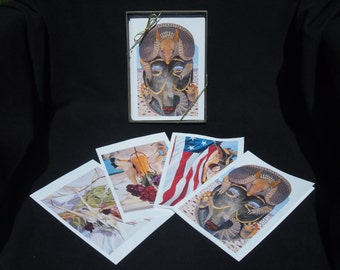 Southwest and Bones- Card Set of 8 with Envelopes