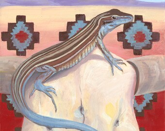 Whiptail Lizard Giclee Print