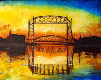 Duluth Lift Bridge Giclee Print