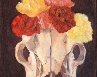 Deer Skull Frida Giclee Print
