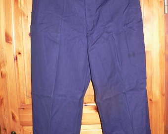 NOS  1930s style french work pants demin