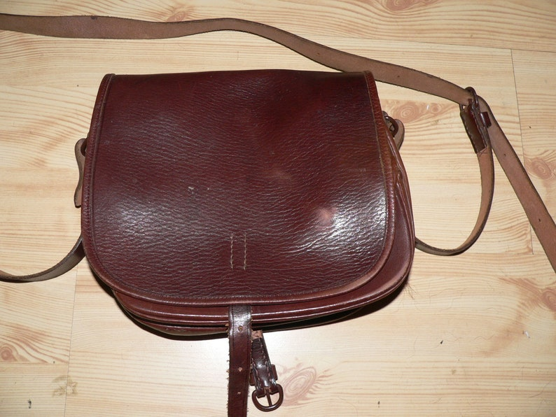 Vintage 1950s small hunting cartridge bag