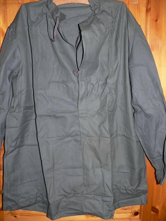 Swiss army 1940s cavalry work shirt NOS Size XL