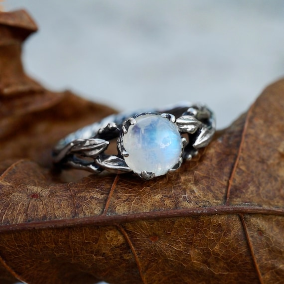proposal ring moonstone ring hidden hart ring gift for her statement moonstone ring love ring organic commitment ring sweet minimal