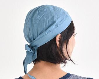 Cotton Bandana Cap Headcover for Women with Tassles, Foodservice Barista Nurse Head Cover Accessory, Sensitive Skin Chemo Fashion Head Wrap