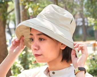 Womens Summer Sun Hat, Wide Beach Cap, Garden Hat, Sunlight & UV Cut, Cooling Temperature Control, Adjustable Size for Large Small Heads