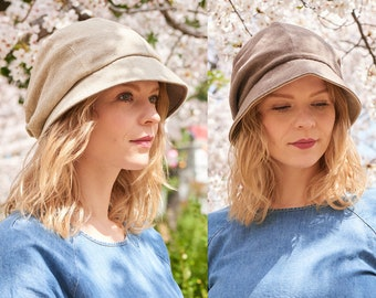 Reversible Womens Sun Hat with 100% Organic Cotton, Wide Brim sun Hat, Great Winter Head Wear, All Season Foldable Soft Chemo Hat for Ladies