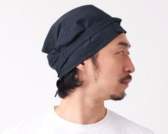 Japanese Cotton Bandana Cap Hat Sushi Headwrap Hair Tie Scarf for Men Women Grown in Aichi Japan Natural Fabric Kitchen Cooking Hair Wrap