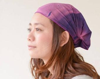 Tie Dye Headband, Wide Bandana Hair Band, Stretchy Elastic Headband, Mens Headband, Head Band Wrap, Japanese Fashion, Boho Womens Bandana