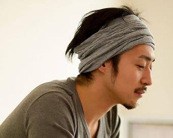 Organic Headband Neck Warmer 100% Cotton Hair Band Accessory MADE In JAPAN Head Band Sensitive Skin All Season Breathable Unisex th-oln