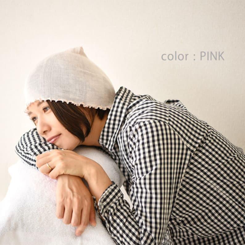 b8080ca0571 100% Silk Night Cap Womens Sleeping Cap Cute Hair Sleep Hat