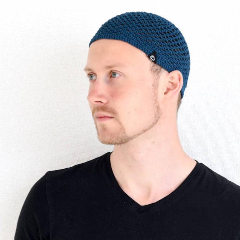 9238779100a 100% Cotton Skull Cap Kufi Hat Muslim Islam Prayer Hat