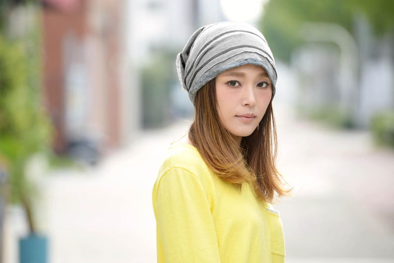 100% LINEN Slouchy Beanie Winter Hat Japanese Korean  89f25e2657f