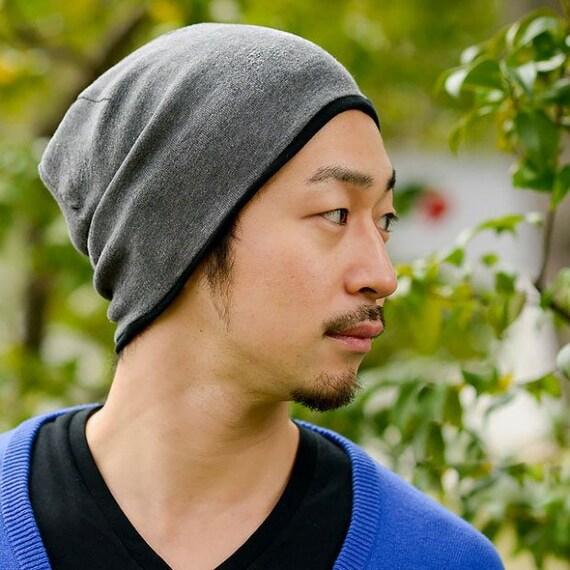 100% Organic Cotton Beanie Hat Made in Japan Reversible  ebc1666fca3
