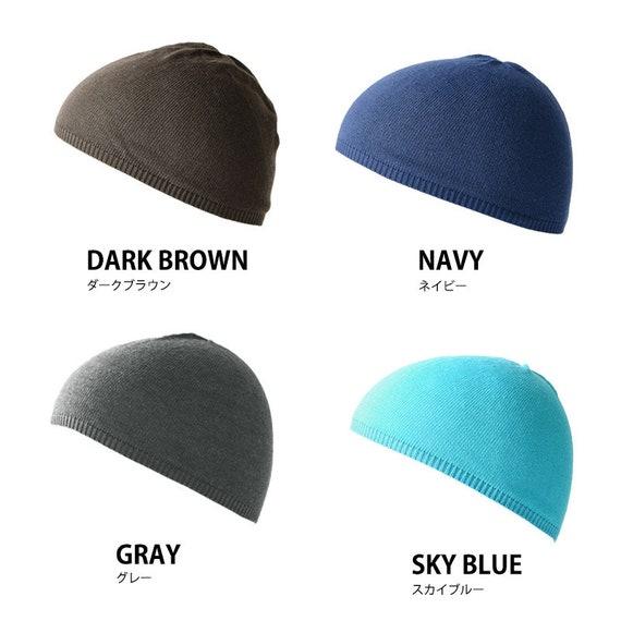 Style japonais Beanie Hat-Gris Gray Souple Hommes Femmes Unisexe Japon Crâne Cap