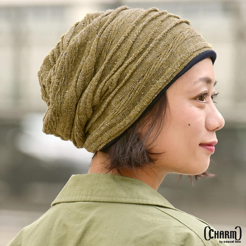 15953874ab520 Warm Slouchy Beanie Made with 100% Organic Cotton Knit Beanie