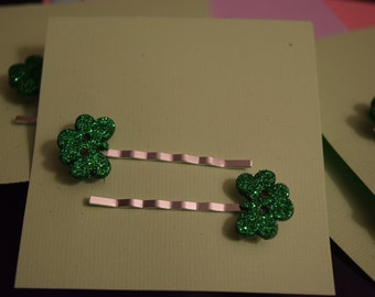 Shamrock/Clover/St. Patrick's Day Hair Clips/Bobby Pins/Barrettes