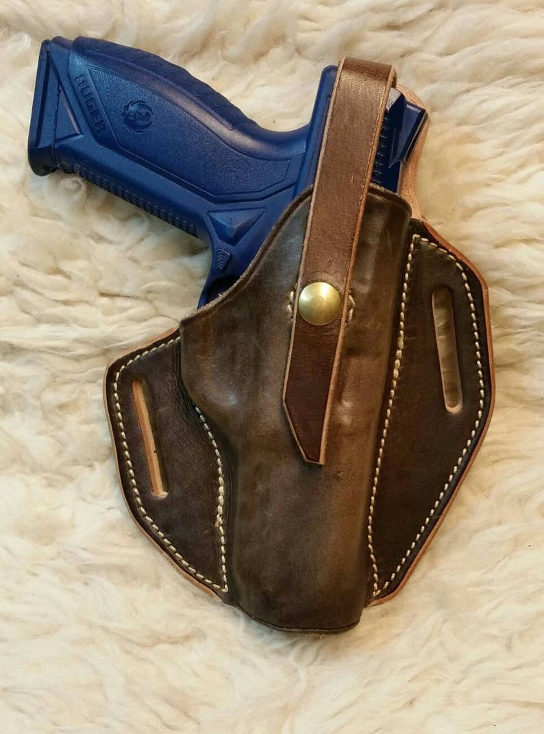 Custom Leather Holster for a Ruger American 45