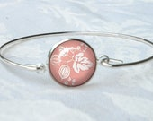Pyrex Pink Gooseberry Wire Bracelet May Birthday 16mm Pink Pyrex Pyrex Collector Gift Gifts for