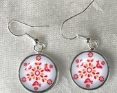 Pyrex Friendship Pattern Earrings Girlfriend Gift Pyrex Collector May Birthday Retro Earrings