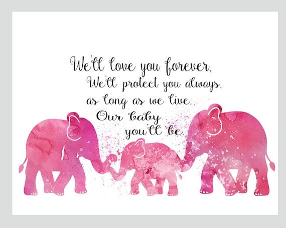 Frases De Niñas Rosa Vivero Vivero Decor Arte Para Cuarto De Chicas Decor Decoración Niños Del Elefante Rosa Vivero Archivo Imprimible Sólo